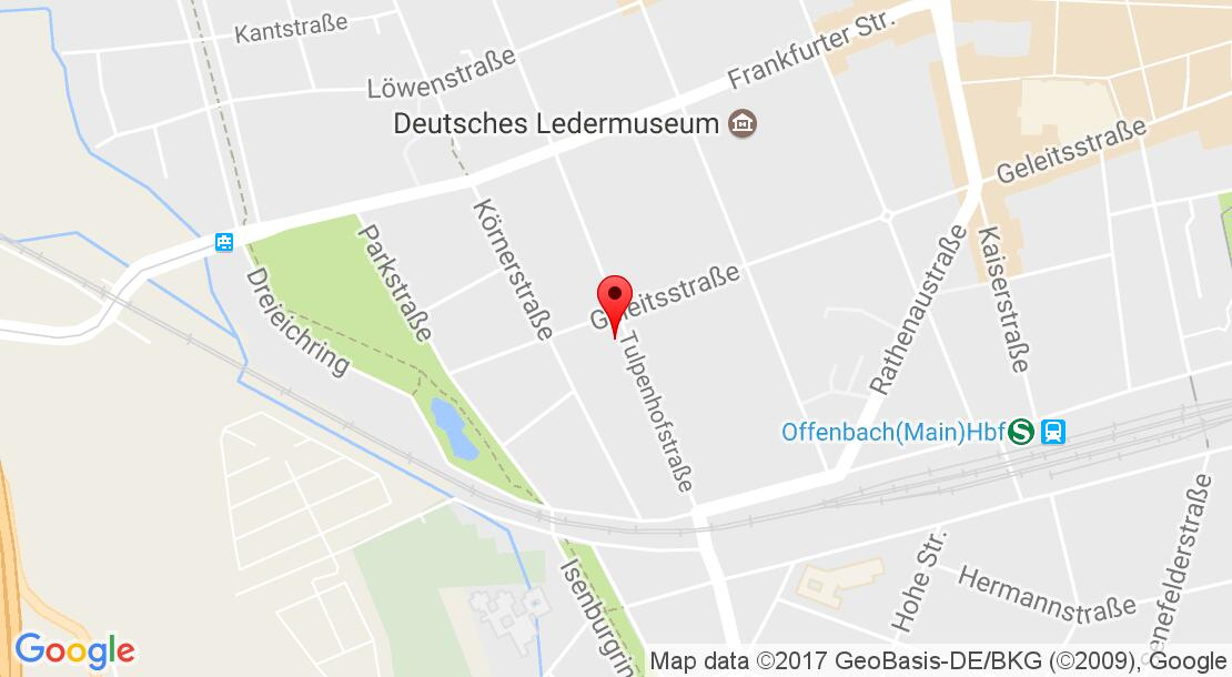 Google Map of Geleitsstraße 104 63067 Offenbach am Main,